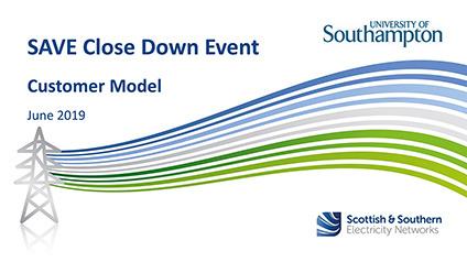 SAVE Closedown Session 1D – Customer Model