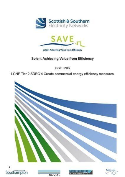 SDRC 4 Create commercial energy efficiency measures